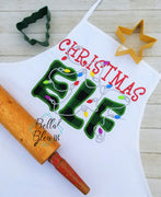 Christmas Elf Saying with Lights Applique