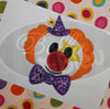 Clyde the Circus Clown Machine Applique Embroidery Design