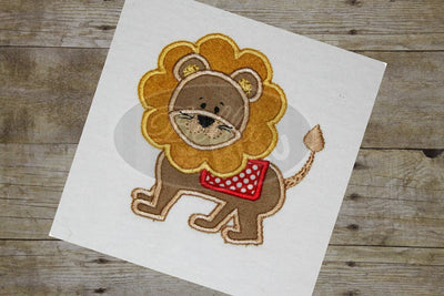 Leo the Circus Lion Applique Embroidery Designs
