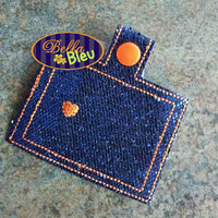 ITH in the hoop State of Colorado key fob luggage tag machine embroidery design