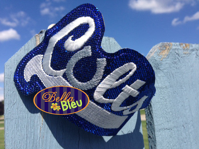 ITH in the hoop Colts Sports Headband Slider Topper machine embroidery