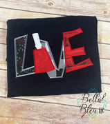 Love Cowbell Applique