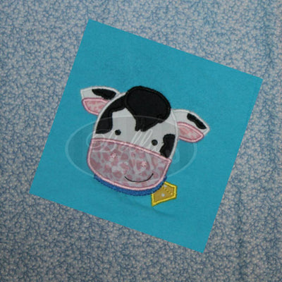 Applique Barn yard farm Cow Applique Embroidery Design