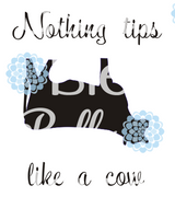 Cow Tipping Farm sublimation cut file Printable