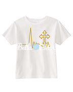 EKG Heartbeat Religious Cross Machine Embroidery Design