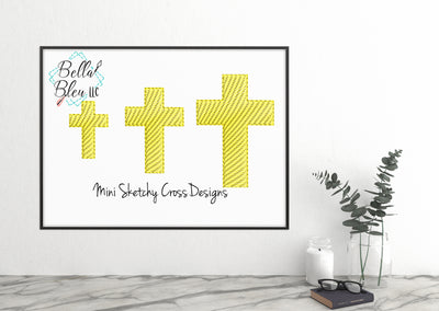 Mini Cross Sketchy Machine Embroidery Design