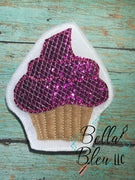 Cupcake Feltie Machine Embroidery Design