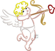 Valentines Cupid Outline Machine Applique Embroidery Design