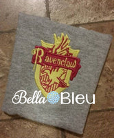 Inspired set of Harry Potter House Names Filled and Applique Machine Embroidery design