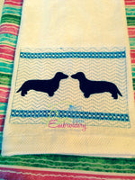 Faux Smocking Dachshund Weenie Dog Machine Embroidery Design
