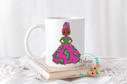 Ankara Pink & Green print Sorority Girl Mug
