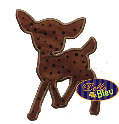 Baby Deer Silhouette Applique Embroidery design
