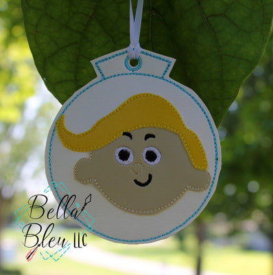 ITH Christmas Ornament Inspired Dentist Machine Applique Embroidery