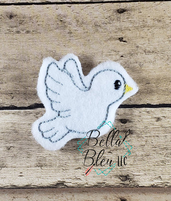 Doves Dove Feltie Machine Embroidery Design