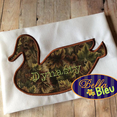 Duck Silhouette Applique Machine Embroidery Design