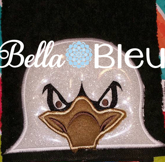Eagle Hooded Towel Topper Peeker Machine Applique Embroidery Designs or Tee