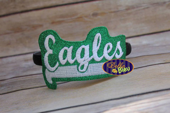 ITH in the hoop Eagles Sports Headband Slider Topper machine embroidery