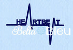 EKG Heartbeat heart beat fill machine Embroidery Designs Design