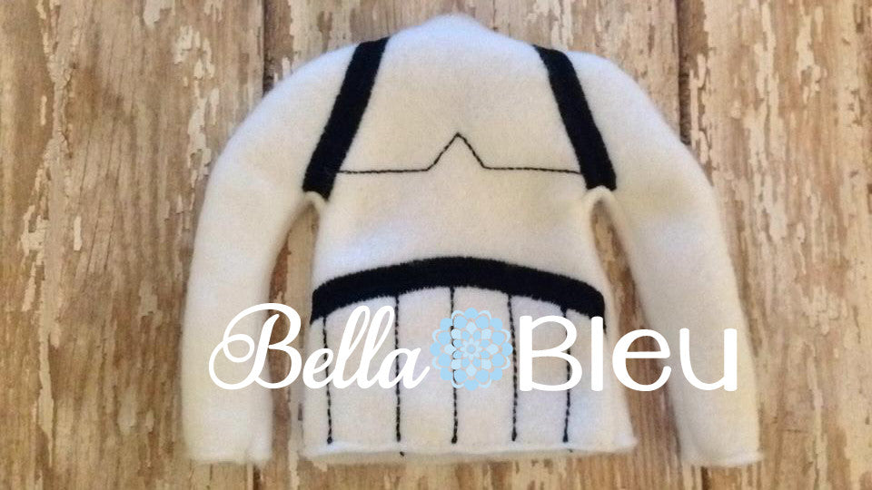 "ITH Elf ""Inspired Storm Trooper"" Star Wars Sweater Shirt Machine Embroidery Design"