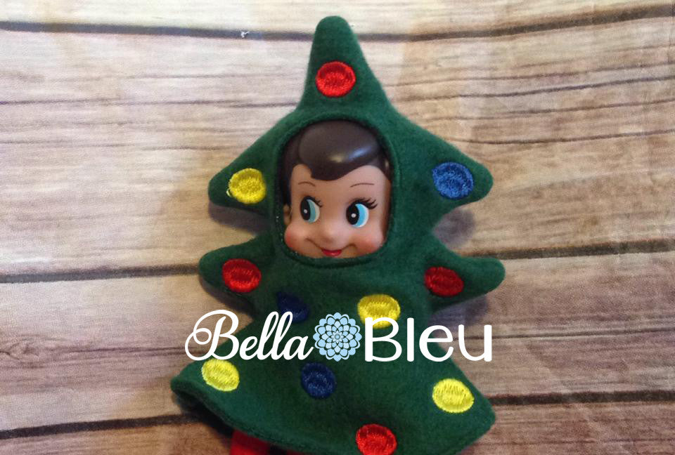 ITH In The Hoop Elf Christmas Tree Accessory machine Applique Embroidery Design