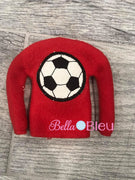 Soccer Elf sweater shirt in the hoop machine embroidery design