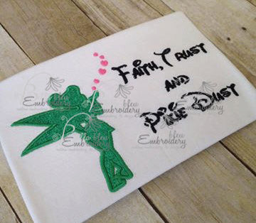 Fairy Pixie Silhouette Applique Embroidery Designs Design Princess Dust