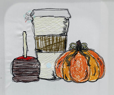 Fall Harvest Latte Scribble Sketchy