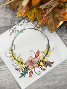 Fall Floral Wreath Scribble Sketchy
