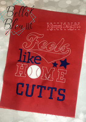 Feels like Home Baseball Machine Applique Embroidery Design