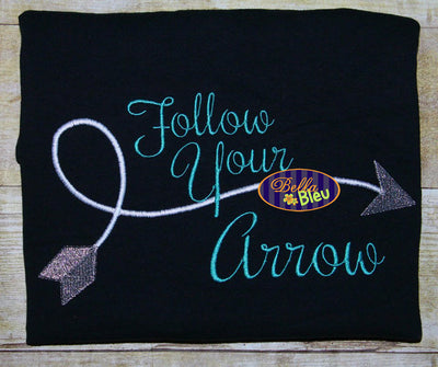 Follow Your Heart Arrow Arrows Embroidery Design