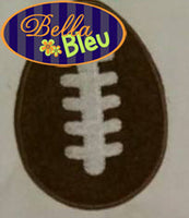 Football Easter Egg  with stitches Machine Applique Embroidery Design