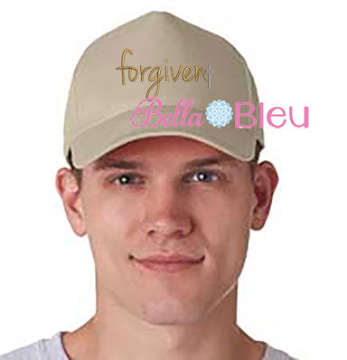 Forgiven with Cross Hat Embroidery Design