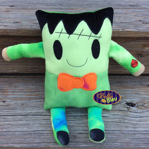 ITH in the hoop Adorable Halloween Frankenstein Frankie Stuffie Stuff Applique machine embroidery