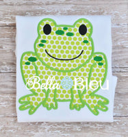 Adorable Leapin Frog Applique Embroidery Designs Design