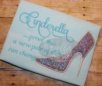 Sexy Cinderella Glass Slipper Stiletto Heels Applique Embroidery Designs Design