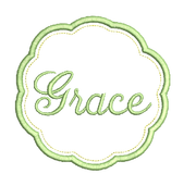Grace Applique machine embroidery design