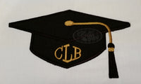 Graduation Cap Hat Applique Machine Embroidery Design