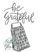 Be Grateful Kitchen Saying Scribble