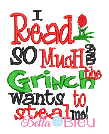 Inspired Grinch Christmas Reading Pillow Machine