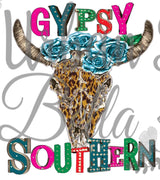 Gypsy Boutique Longhorn Skull Sublimation png file
