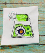Halloween Eye in Jar Scribble