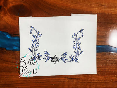 Hanukkah Jewish Star of David Monogram Frame Scribble Sketchy