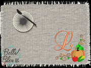 Fall Harvest Design - Harvest Frame Design - Frame embroidery design - Monogram Frame Design