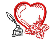 Valentines Heart and Inkwell