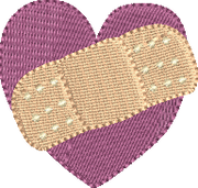 Heart with Bandaid Mini Design
