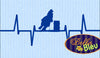 Heartbeat EKG of  a Barrel Racer machine embroidery design