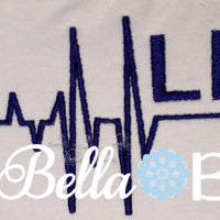 Heartbeat heart beat of a LPN fill machine Embroidery Design