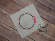 Valentines Circle Frame  Machine Embroidery Monogram circle 6x6