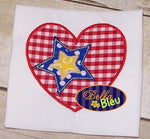 4th Fourth of July Heart with Star