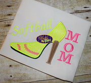 Sexy Baseball Softball Heels Applique Embroidery Designs Design Monogram